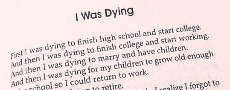 I forgot to live